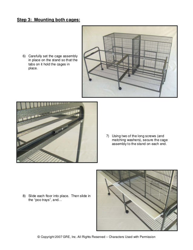 kings cages assembly instructions