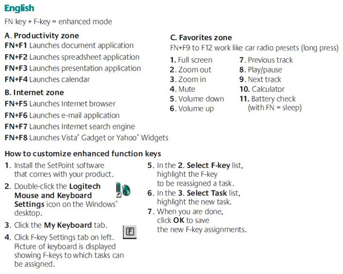 logitech mk550 keyboard instructions