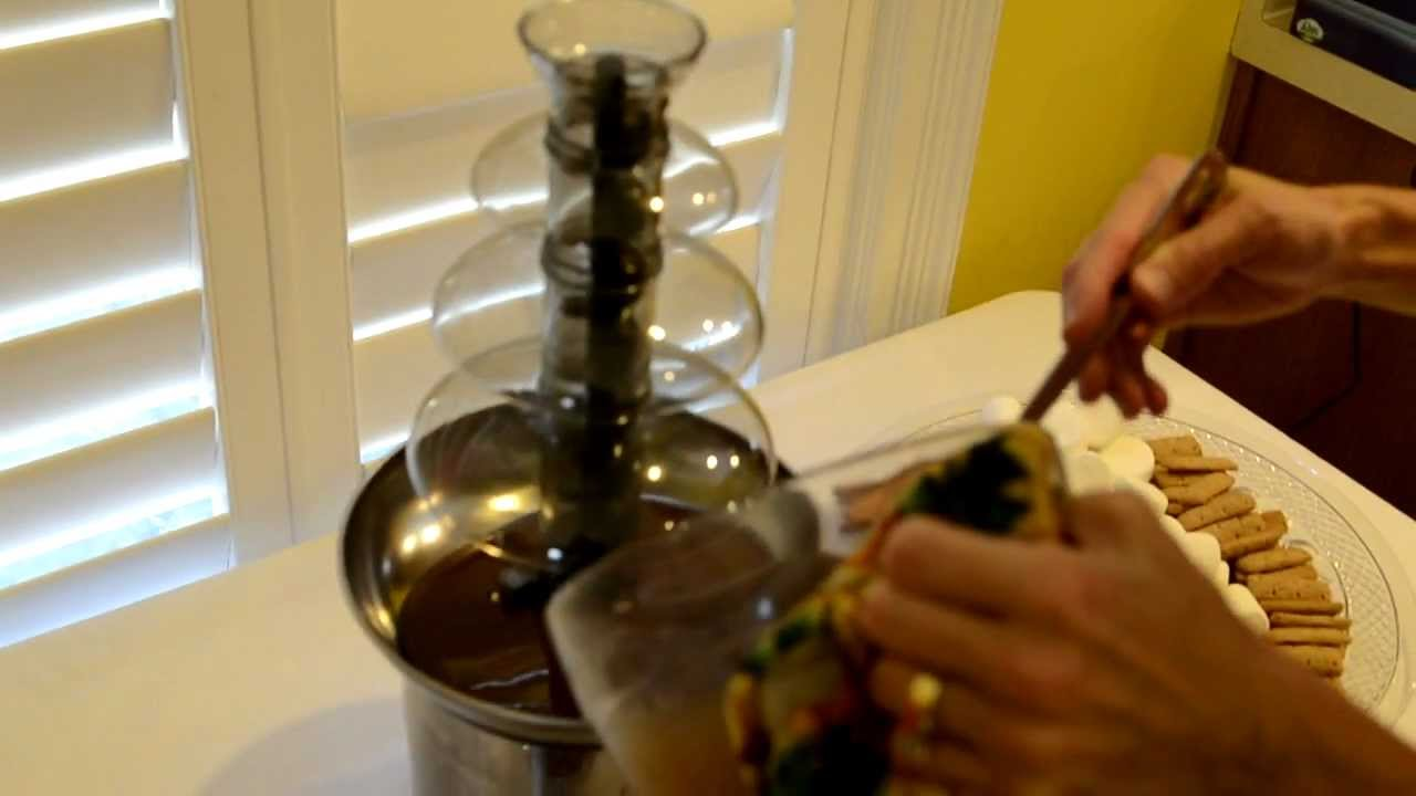 chocolate fountain instructions cookworks